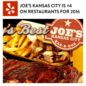 Joe's Kansas City Ranked #4 Best Restaurant