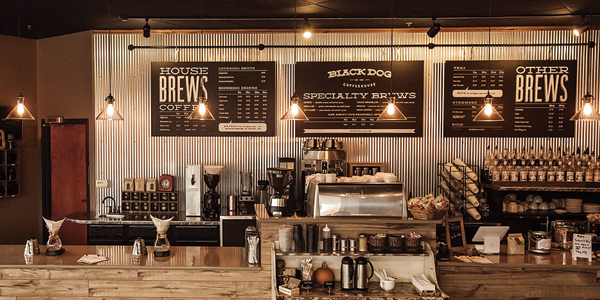 Charming Black Dog Serves Messenger Coffee Beans And Features A Nice Variety Of  Sandwiches, Baked Goods, And Even A Bookable Conference Room.