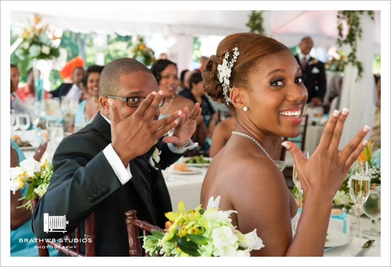 You've got to love a wedding where the Vulcan salute is given to honor the bride and groom.