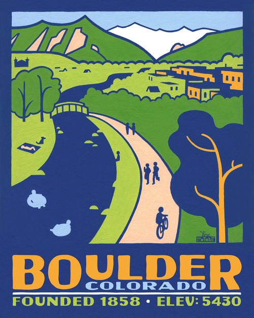 Boulder, Colorado poster — Steve Lowtwait Art - Artwork by Steve ...