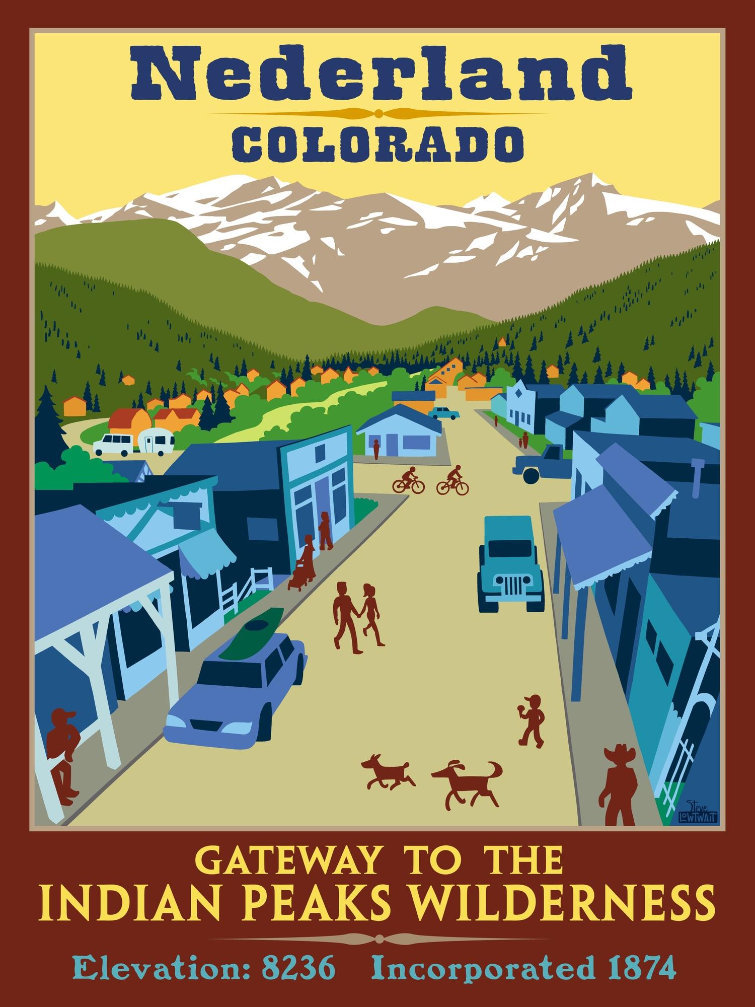 Nederland, Colorado poster — Steve Lowtwait Art - Artwork by Steve ...