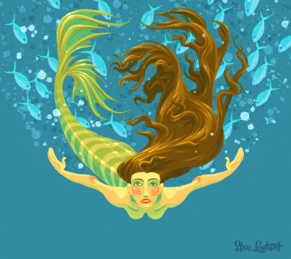 Mermaid Underwater Drawing Www Pixshark Com Images