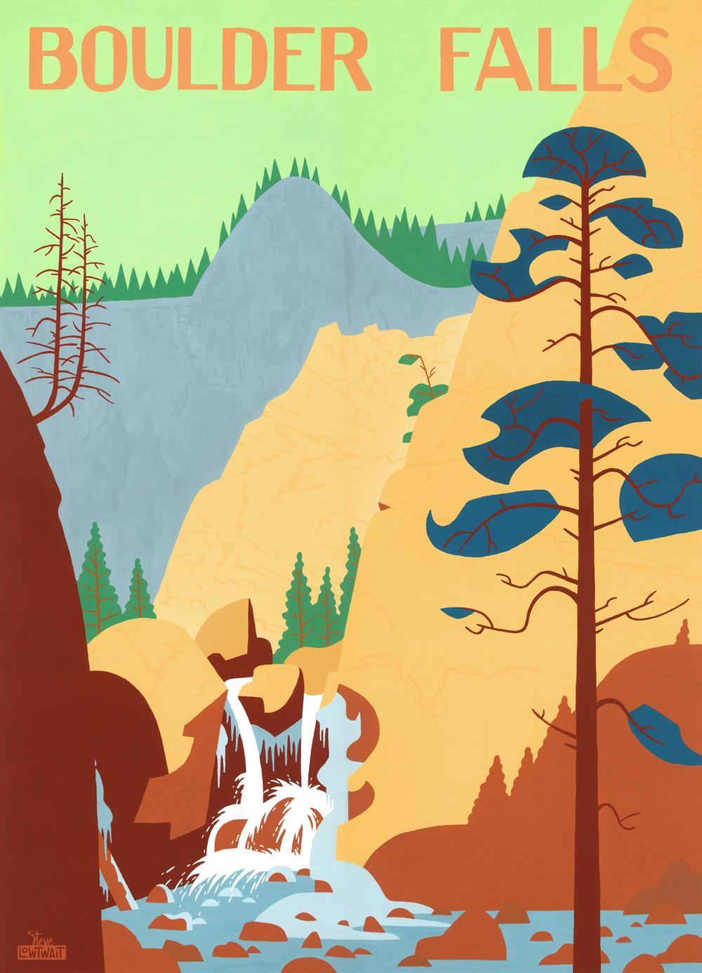 SOLD•Boulder Falls.