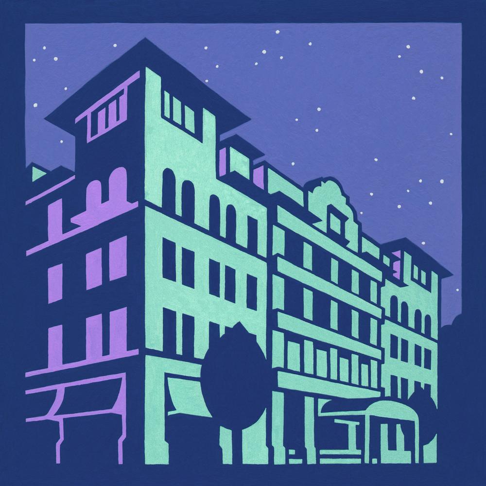 Hotel Boulderado •8x8 unframed.