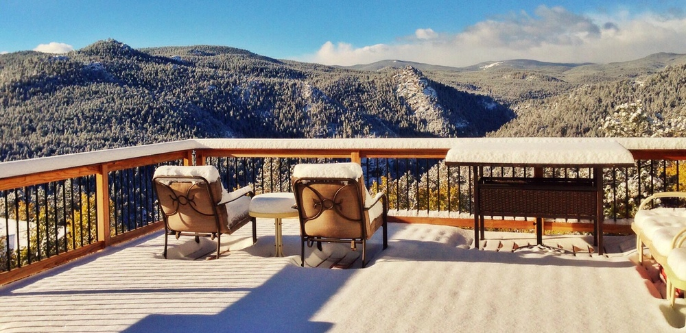 The deck of our Colorado home.