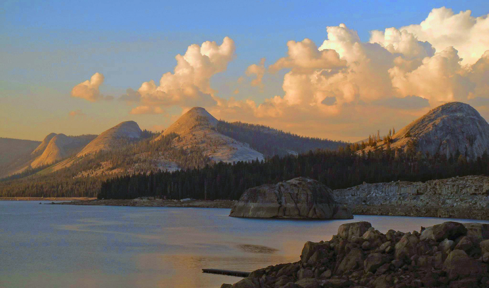 Courtright Reservoir, a camping spot I frequented in the Sierras.