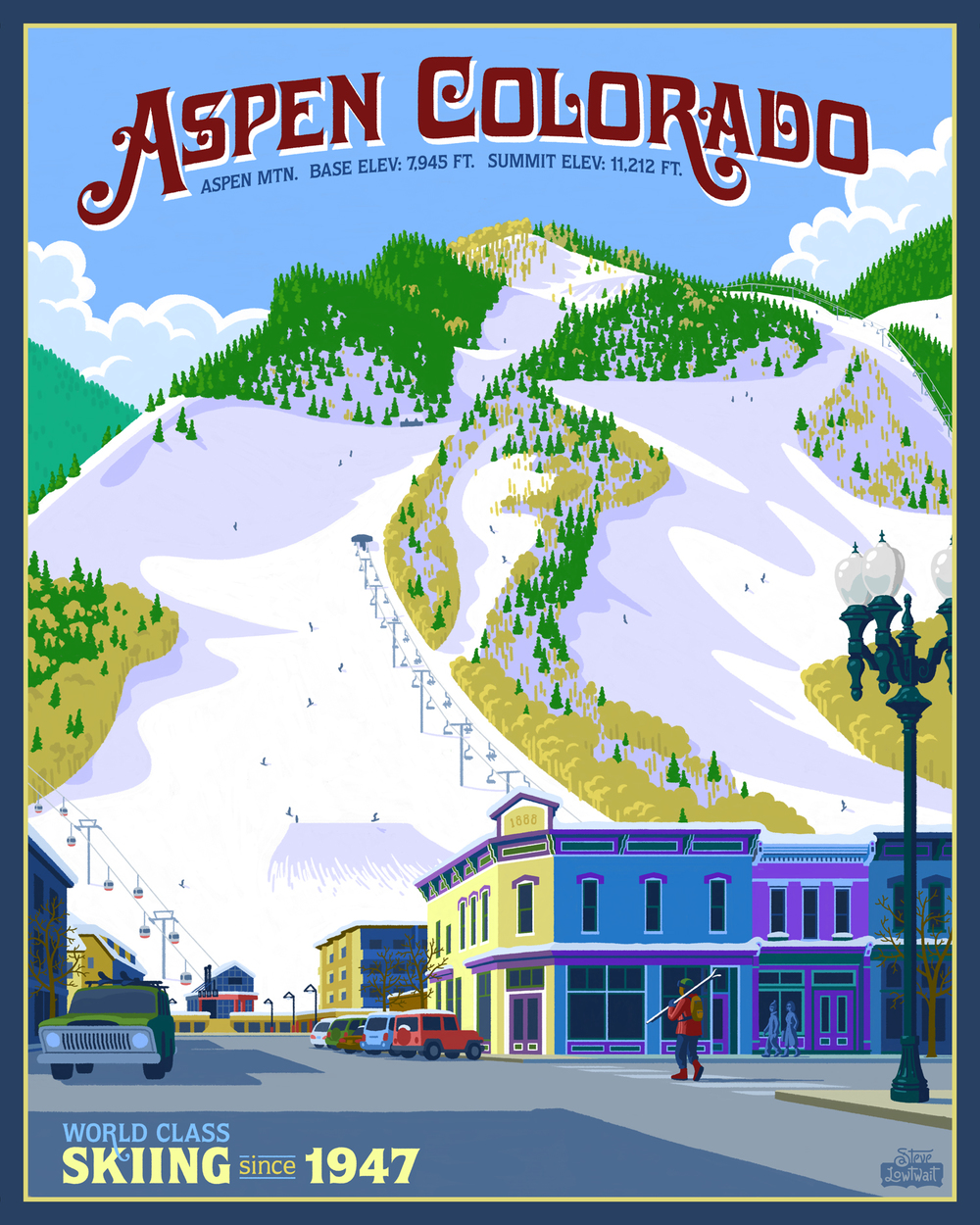 Ski Aspen, Colorado •  Buy  •  Private commission