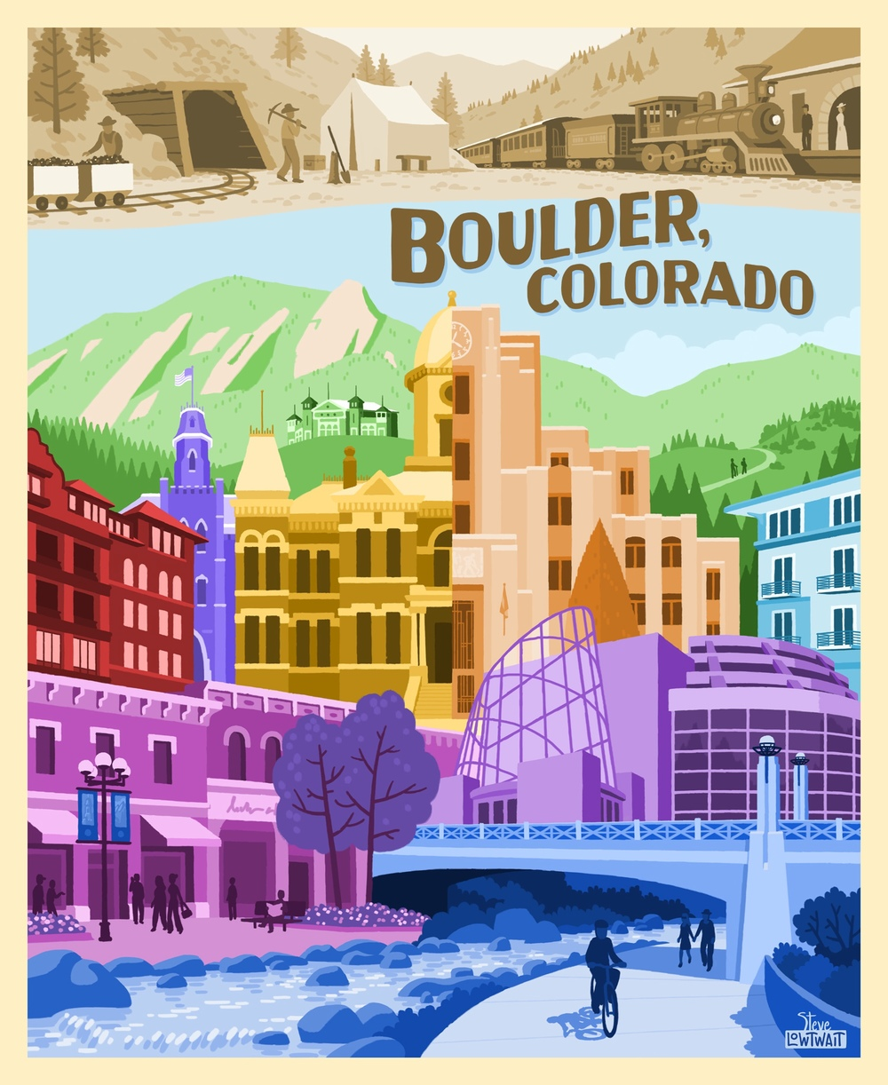 Boulder, Colorado Landmarks • Buy