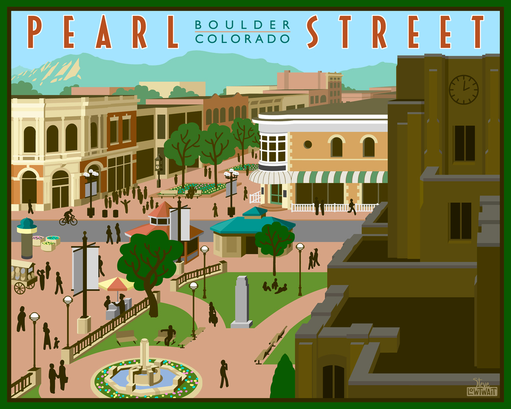 Pearl Street Mall - Boulder, Colorado • Buy
