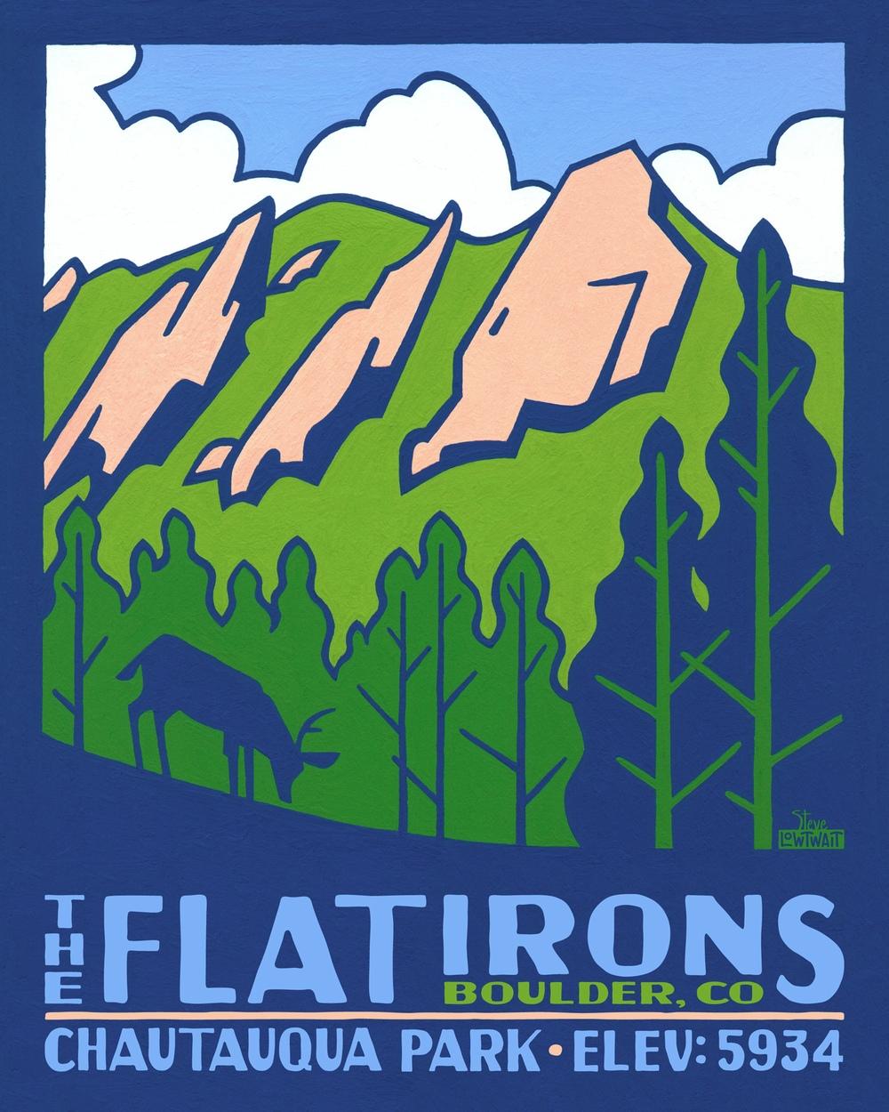 The Flatirons - Boulder, Colorado• Buy