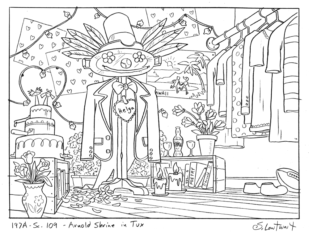 Another of Helga's Arnold shrines. I don't even know how many shrines I got to design.
