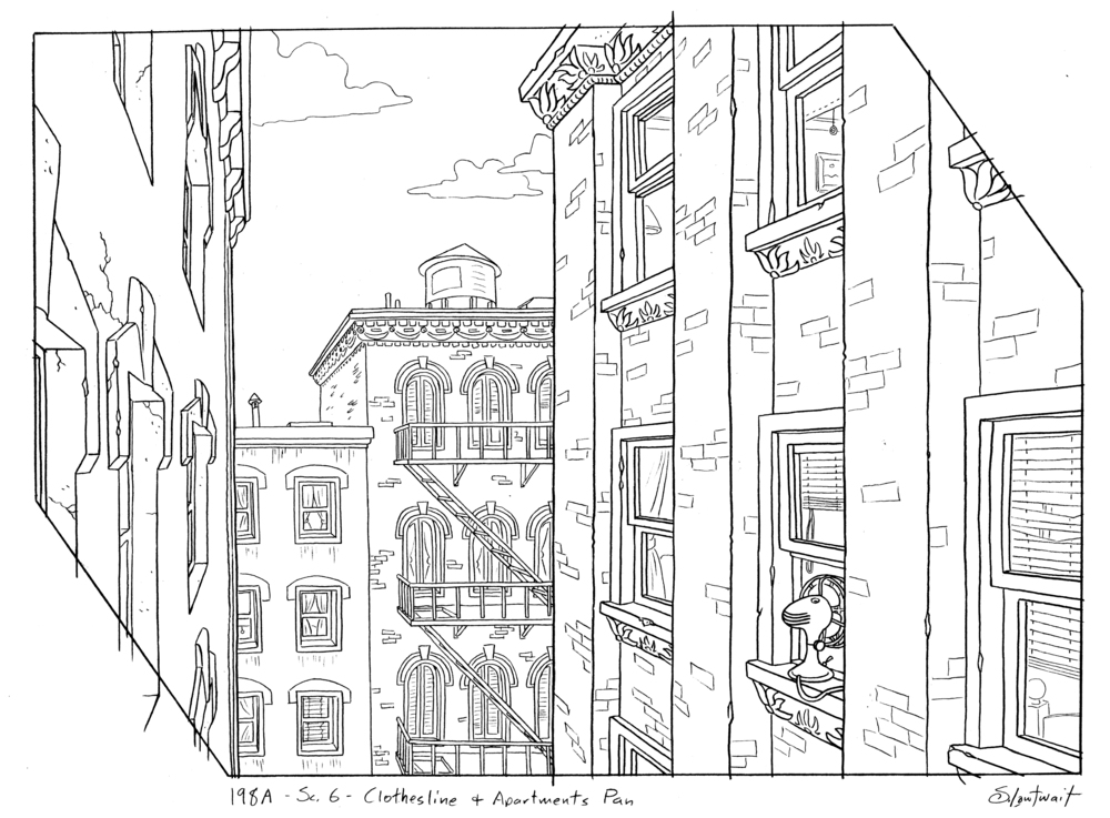 The indistinct cityscapes were great for drawing extra details.