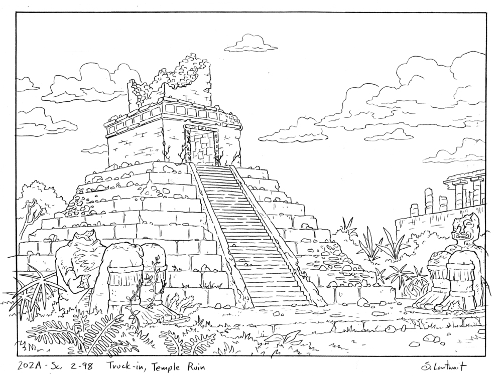 Other Mayan ruins from the episode exploring the story of Arnold's parents.