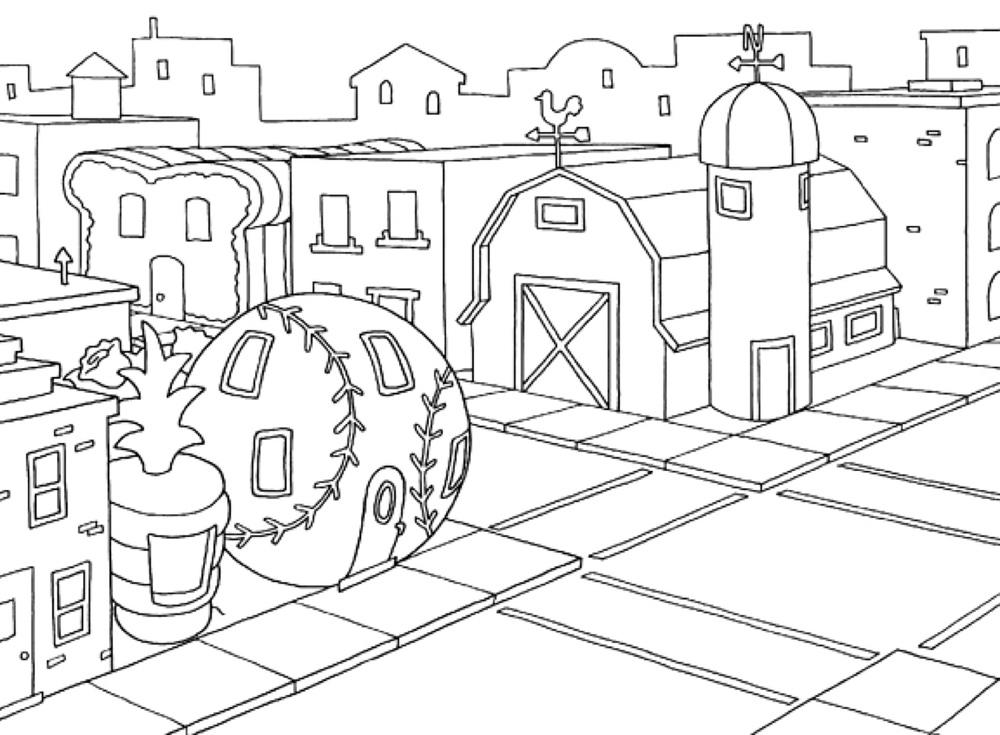 City street corner.