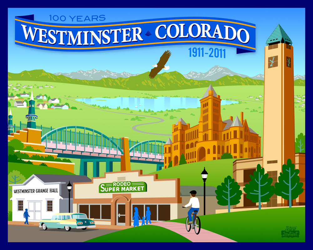 Westminster, Colorado • Commissioned to celebrate the centennial year of this Denver suburb.  Client: City of Westminster