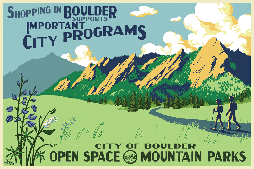 Open Space and Mountain Parks, Flatirons • Buy • Commissioned to promote buying local. • Client: City of Boulder