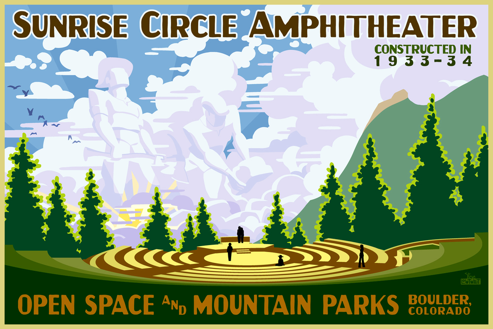Sunrise Circle Amphitheater, OSMP • Buy • Commissioned for the restoration of the outdoor amphitheater. • Client: City of Boulder