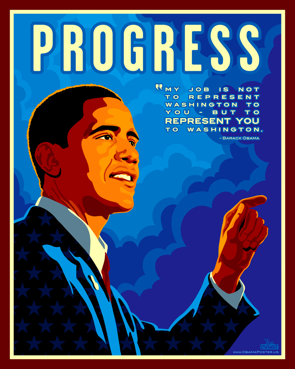 Progress • Poster to support President Obama's 2008 campaign