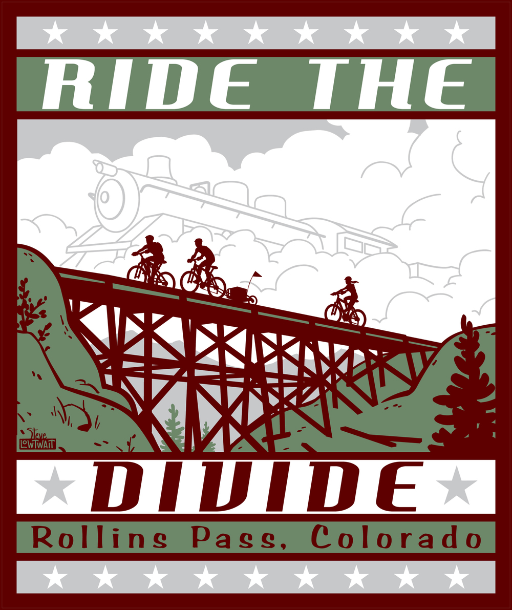 Ride the Divide • A poster to promote a popular mountain bike ride.   Client: CHAOS Outdoor Club.