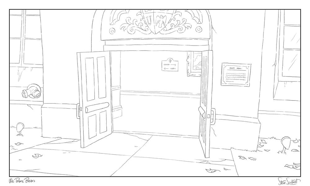 Auditorium entry.
