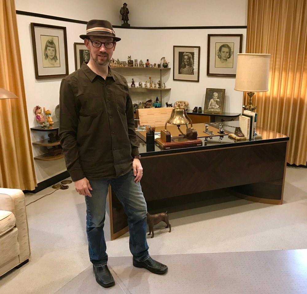 My photographic proof that I was in Walt Disney's office.