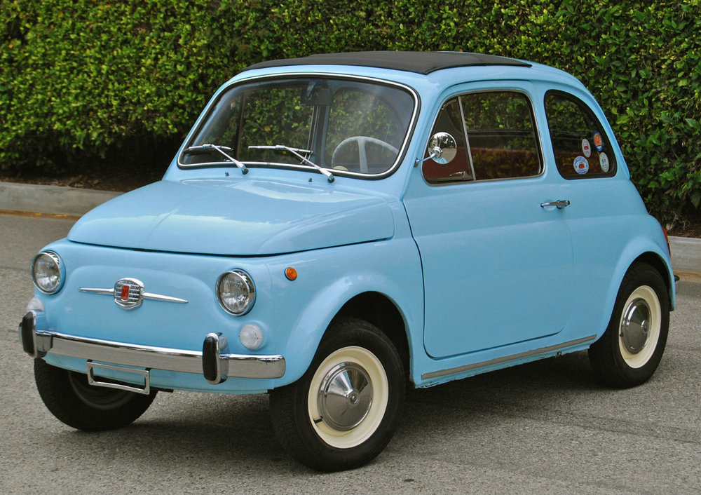 Here's a photo of a Fiat 500 actually from 1957, the inspiration.  (This isn't the car I'm selling.)