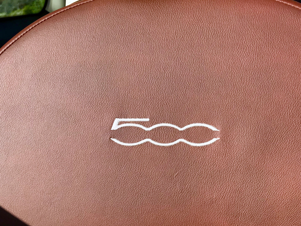 Embroidered 500 logotypes on the seat backs give another extra detail.