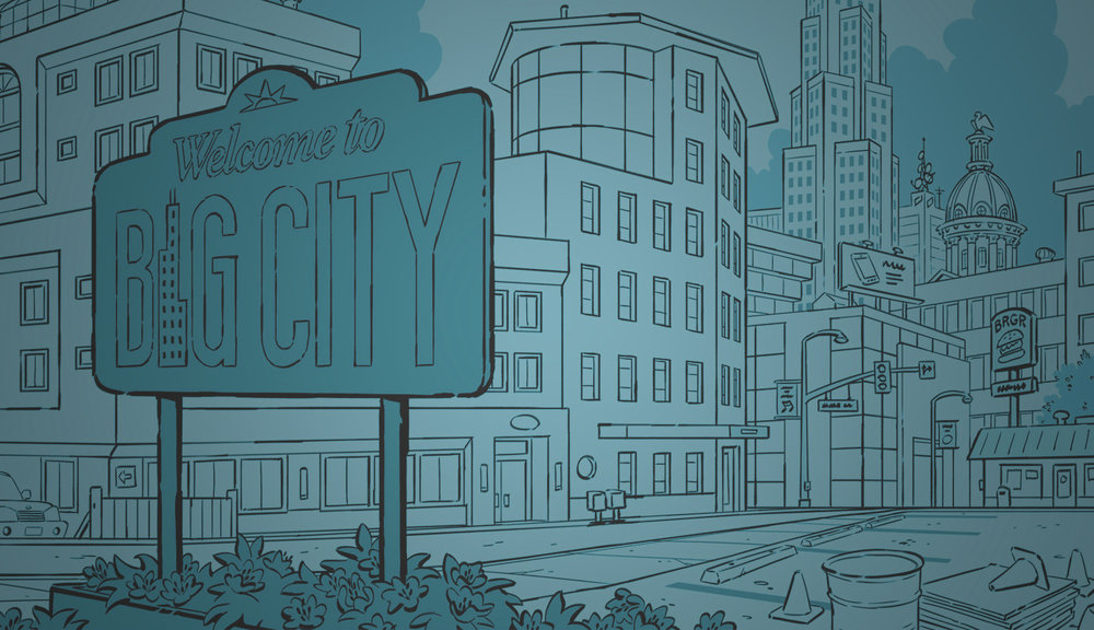 - I imagine and draw places for Big City Greens.