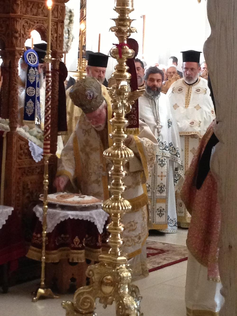 Metropolitan Blessing Koliva of St. John Chrysostom 11-13-13.JPG