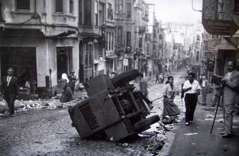 A Greek neighborhood after the pogrom of 6-7 September 1955
