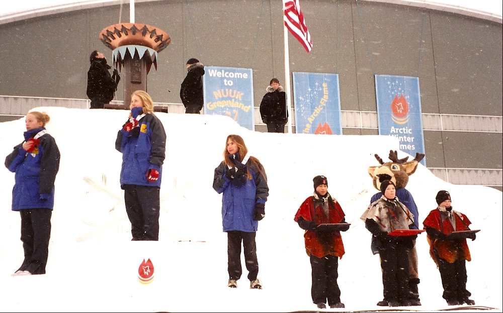 My first international racing experience at the 2002 Arctic Winter Games in Nuuk, Greenland