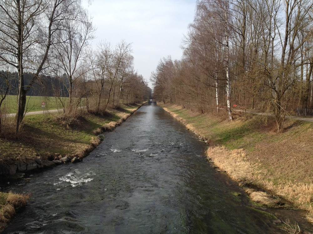 Beautiful spring-like run in Zurich, on my first day in Europe