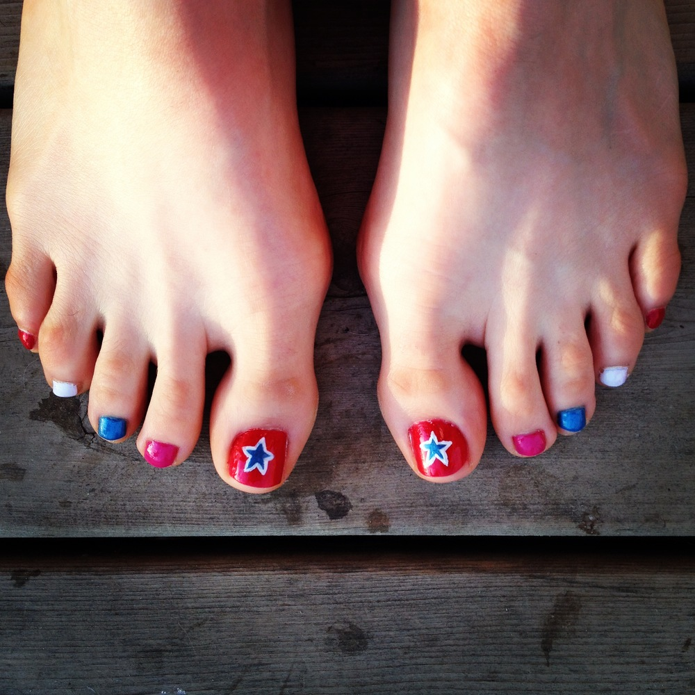 Fancy toes for the Olympics!
