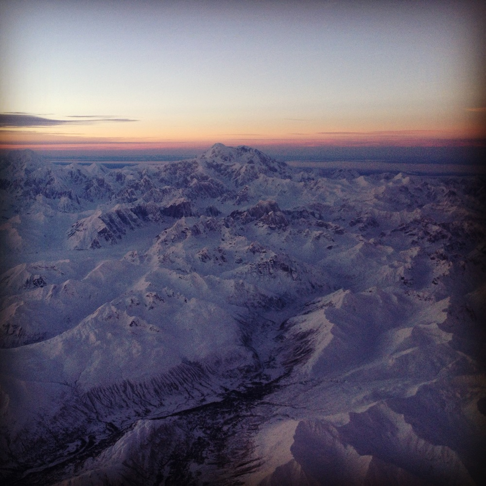 Denali from the plane on my way to Fairbanks