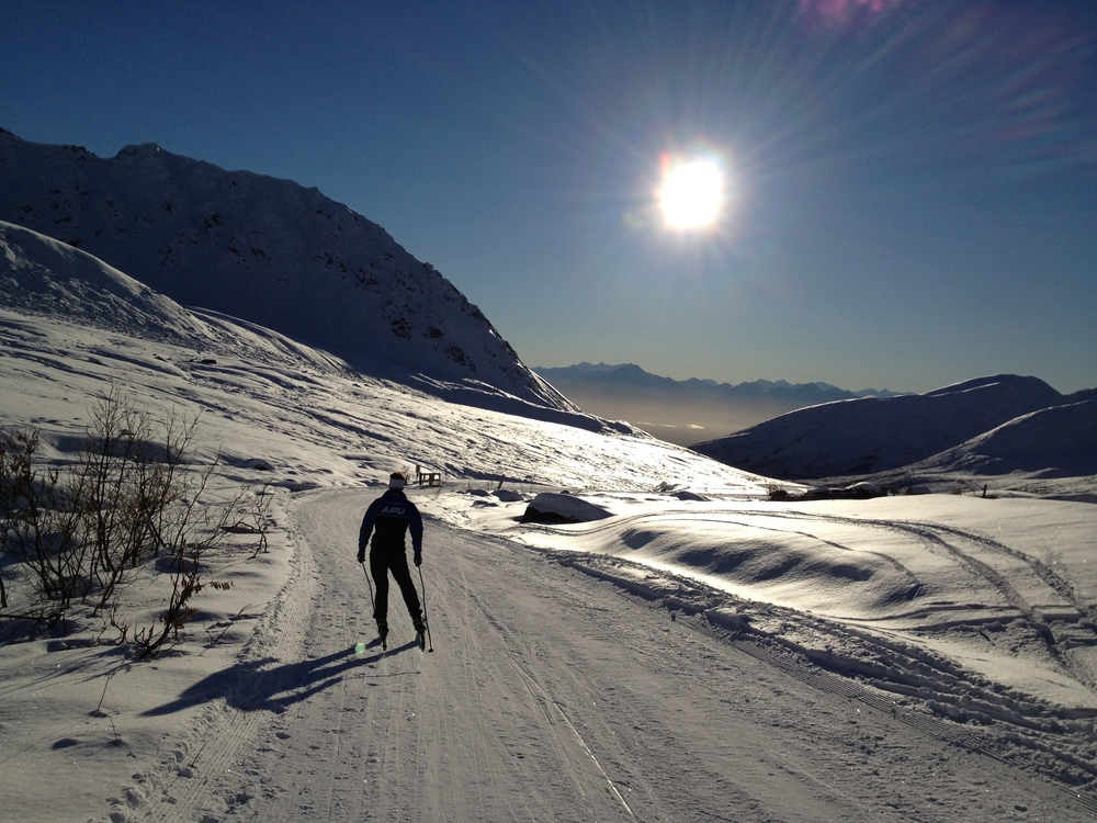 Early Season skiing with Reese at Hatcher Pass