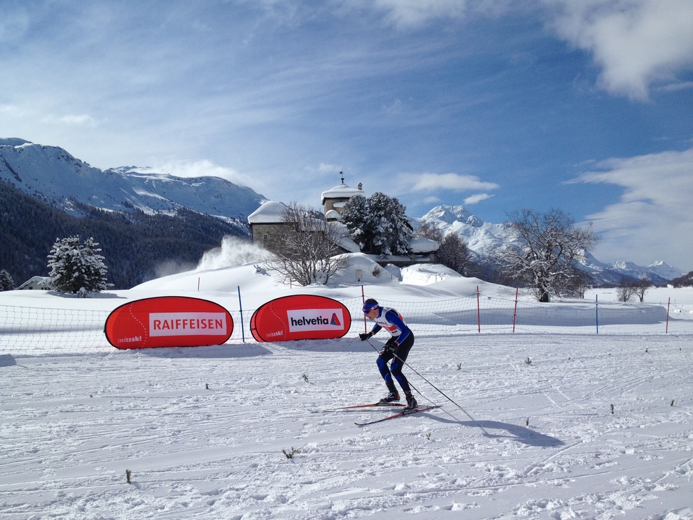 Tyler Kornfield rocking his distance skiing in Silvaplana