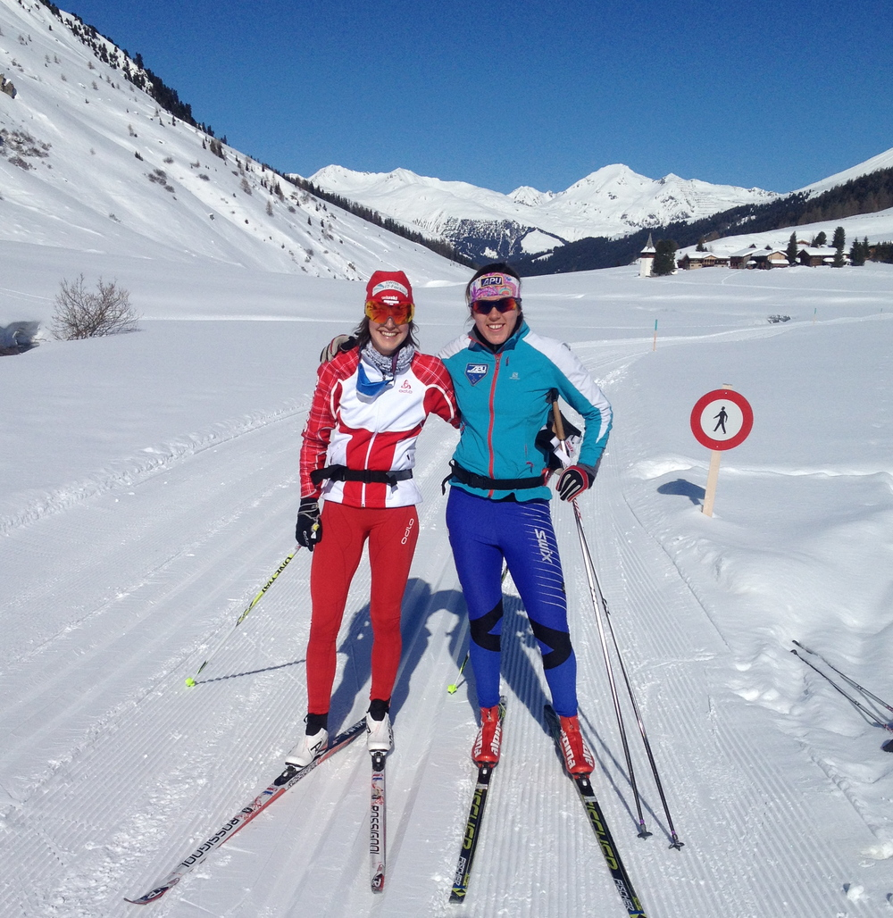 Skiing in Davos with Bettina Gruber