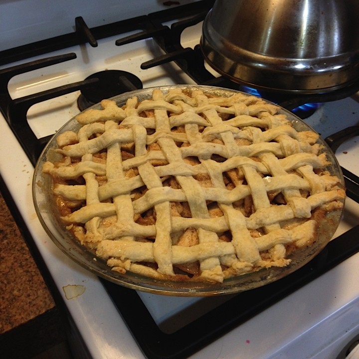 Lex Treinen's awesome crust on our joint pie effort for APUNSC thanksgiving.  The pies were delish, if I do say so myself!