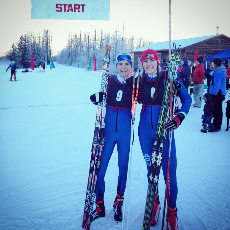 Lauren and I were pretty happy with the weekend!  ... even if our faces are a little too frozen for a big grin :)