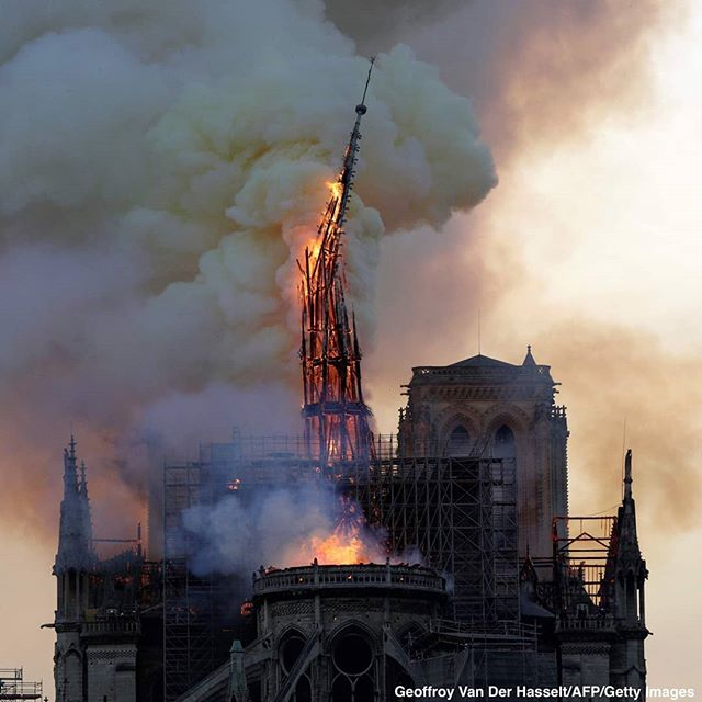#notredame #paris #sorrow #loss #nowords 😥