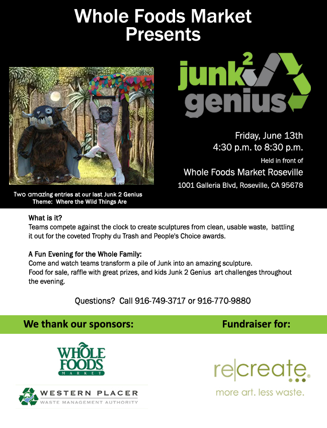 If you would like to have a team participate in Junk 2 Genius - You can register one below for just $199 team fee.