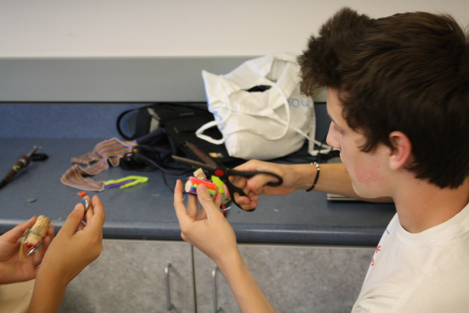 Circuits And Robotics Masters Make Cool Stuff At Camp Recreate Wiring For On Thursday Each Robot Master Spent Some Time Seven Different Learning Stations Rotating Through A Circuit Design Challenge With Ryan Playing
