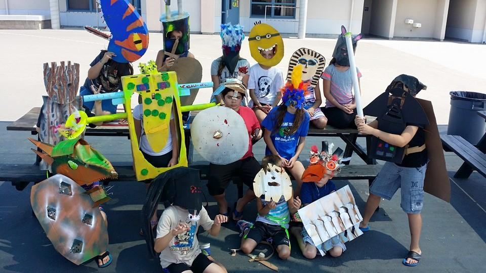 Who needs a costume store?  We just need cardboard, paint and our creative making abilities!