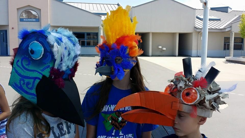 These bird masks were spectacular!