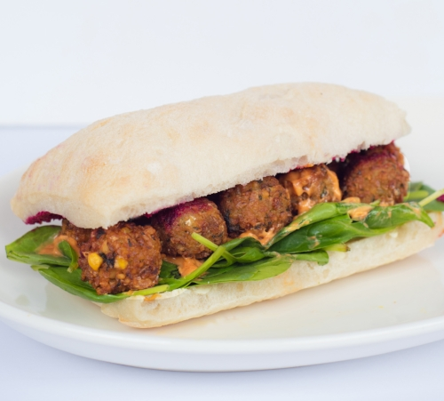 Falafel and Beetroot Ciabatta