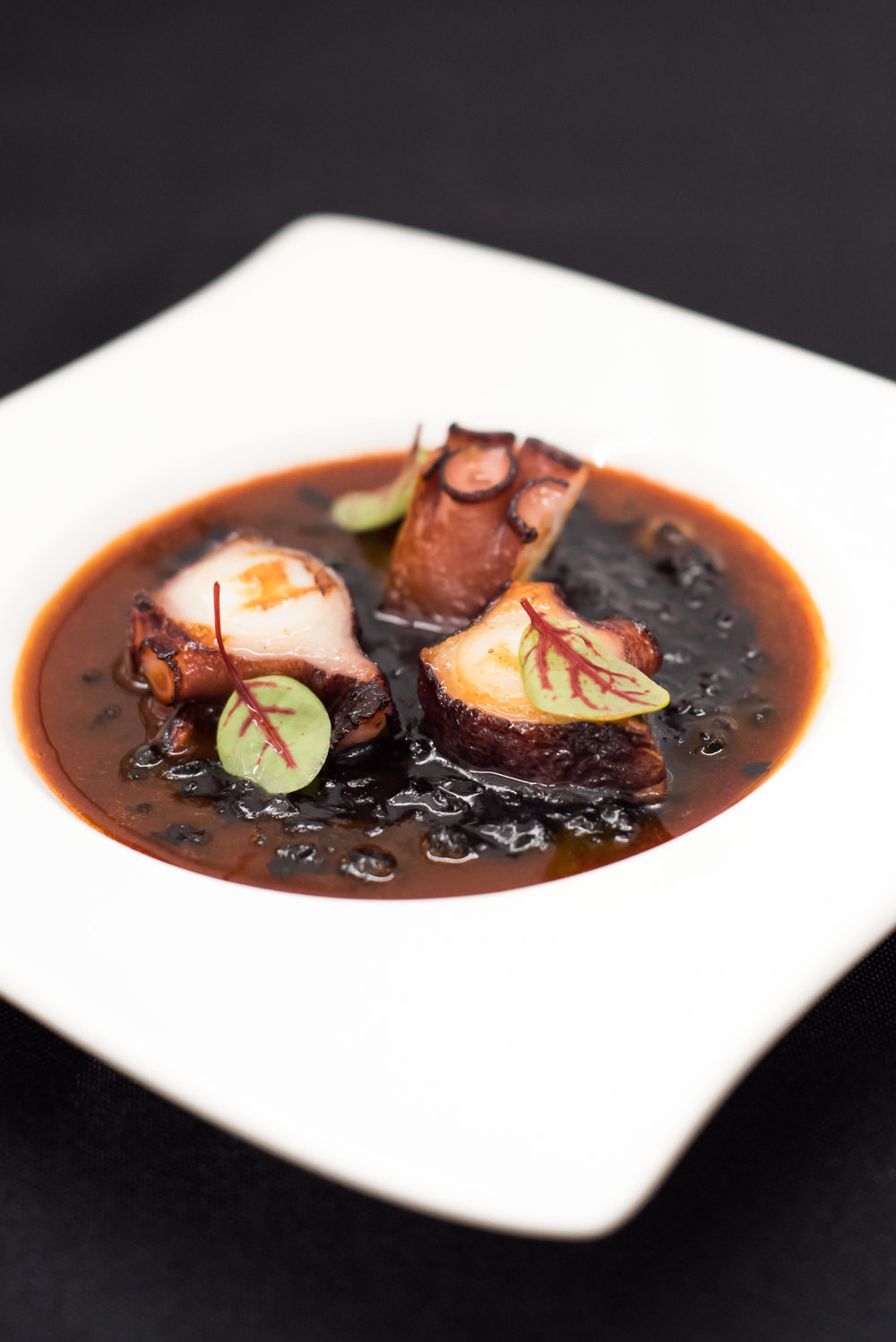 OCTOPUS - with black rice & paprika