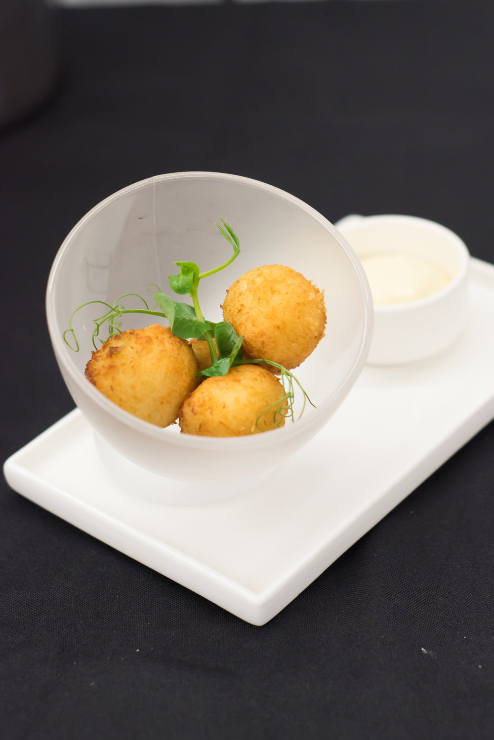 CROQUETAS - a play on croquettes with cod & aioli