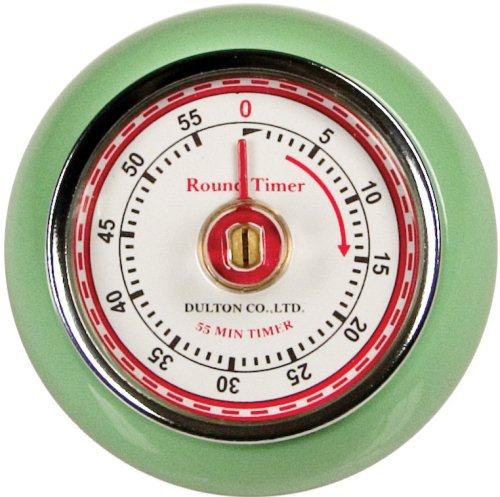 This retro timer is pretty darn good looking, and it helps me be more consistent with frying times for the pies without needing any batteries.  It also has a magnet back so I can stick it on any magnetic surface I like!
