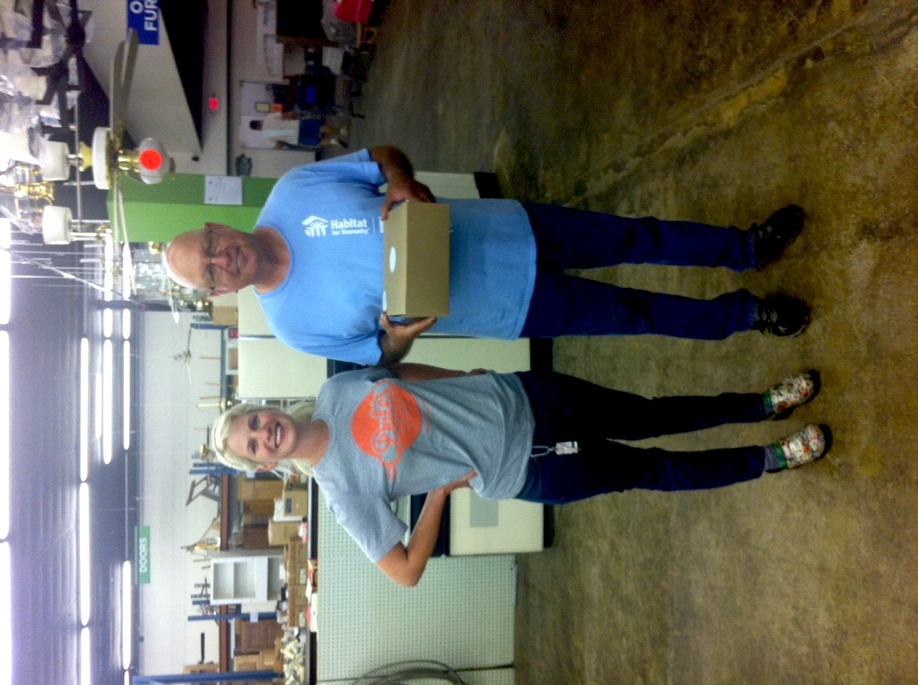"When we delivered pies to Ernie at the Habitat for Humanity store, he looked around and said, ""Am I on Candid Camera?!"""