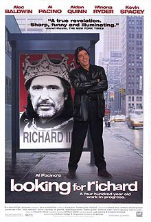 Al Pacino. Cartel de 'Looking for Richard'. Fuente: Wikipedia.